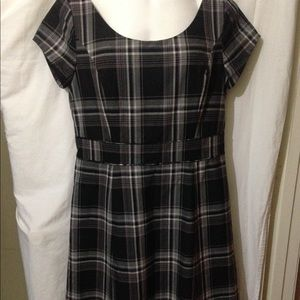 Isaac Mizrahi Black Plaid Dress